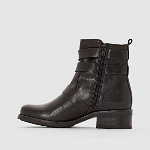 Nero 38 Stile Donna Redoute Boots Collections In Pelle Biker La Taglia vFOqZwzZ