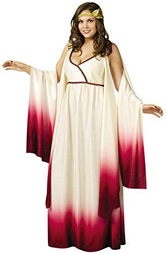 [Mememall Fashion Greek Venus Goddess of Love Plus Size Halloween Costume] (Goddess Of Love Costume For Kids)