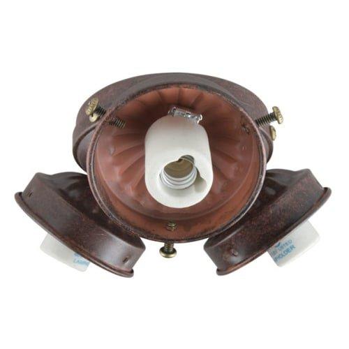 Concord Fans Y-306CG-S-ORB Lightkit 3 Light Turtle Contractor - Oil Rubbed Bronze