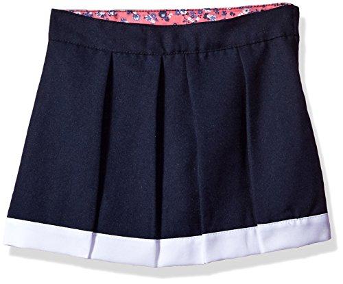 U.S. Polo Assn. Big Girls' Scooter (More Styles Available), Poly Navy-AGHK, 8 (Skorts Skirt Uniform)