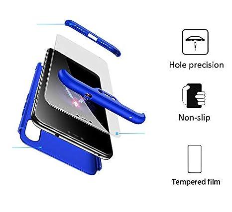 BESTCASESKIN Funda Xiaomi Mi A2 Lite, Carcasa Móvil de Protección de 360° 3 en 1 Desmontable con HD Protector de Pantalla Carcasa Caso Case Cover para ...