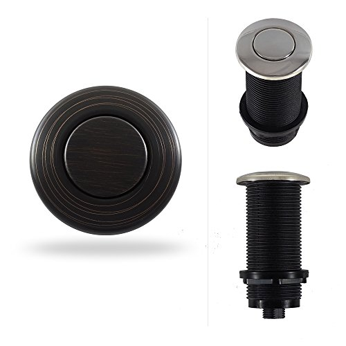 Round Garbage Disposal Air Switch Button (Standard 3-Inch Length)