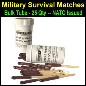 British Navy Survival Life Boat Matches, NATO Issued
