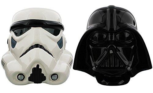 7,4 x 4,8 x 5,7 cm Half Moon Bay Adorno de Navidad Star Wars Negro Darth Vader