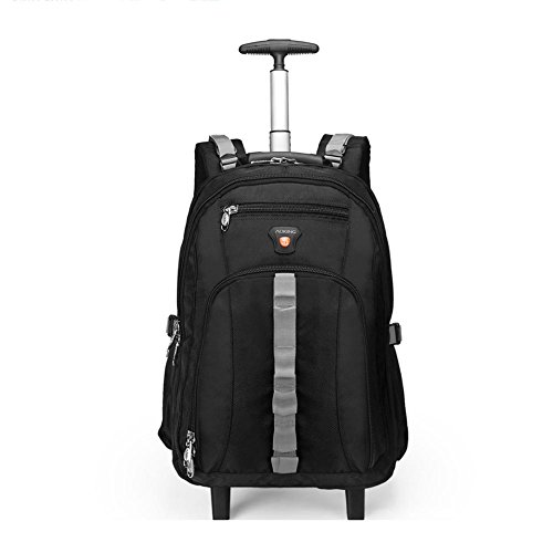 Schultern Ruten Tasche Ultraleicht Vielseitig Koffer Laptop Rucksack Genehmigt für Ryanair, Easyjet, British Airways, Virgin Atlantic mit 2 Leises Rad , 22 inches