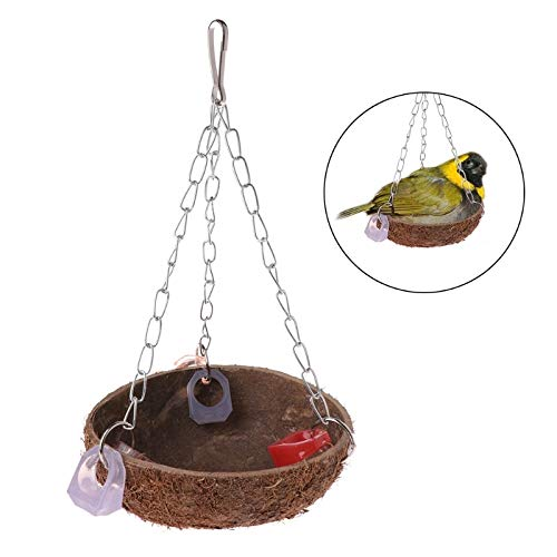 Bird Cages & Nests - Parrot Toys Perch Coconut Shell Swing Nest Hanging Cage Natural Birds Parakeet - Parrot & Cage Cage Nest Bird Cage Cages Hamster Bird Parrot Bird Stainless Bear Bird Bird by FTmalls