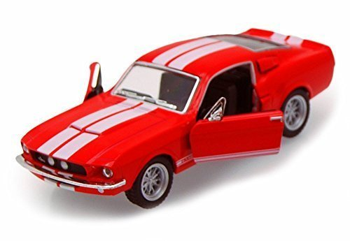 1967 Shelby GT500, Red - Kinsmart 5372D - 1/38 scale Diecast Model Toy Car (Brand New, but NO (Shelby Gt500 Replica)