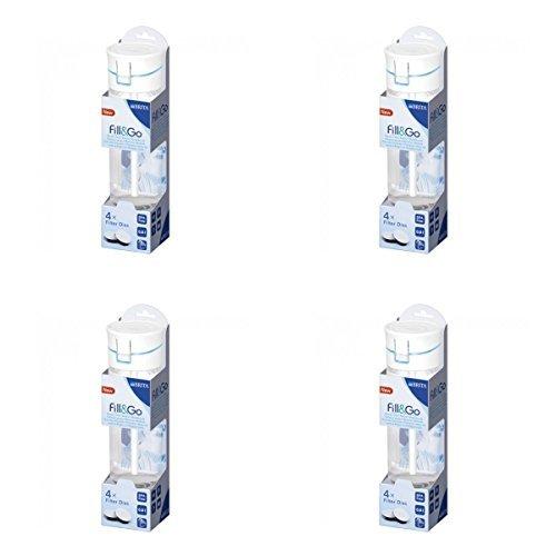 (4 PACK) - Brita Fill & Go 600Ml Bottle - Blue | inleSingle | 4 PACK - SUPER SAVER - SAVE MONEY by BRITA (Brita Water Filter 4 Pack compare prices)
