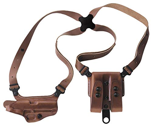 """Galco Miami Classic Shoulder Holster System Tan Compatible with 3""""-5"""" 1911"""