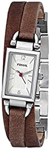 Fossil Delaney Three Hand Leather Watch - Tan Jr1324