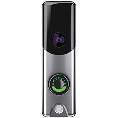 Image of Alarm.com Skybell Slim Line Doorbell Camera (Silver) Home Improvements