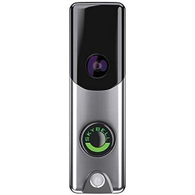Image of Alarm.com Skybell Slim Line Doorbell Camera (Silver) Home Improvements
