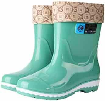 c83873d2509 MINIKATA Women Boots Flat Long Boots Suede Knee High Boots Winter Warm Snow  Boots Belt Buckle