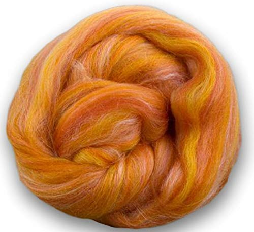 4 oz Paradise Fibers Soft & Silky Constellation Range Leo - 70% 23 Micron Solid Color Merino Wool and 30% Bleached Tussah Silk Blend