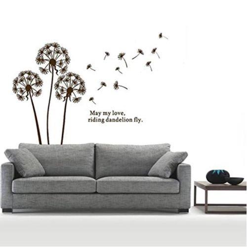 Art Vinyl Quote DIY Dandelion Wall Sticker Decal Mural Home Room Decor