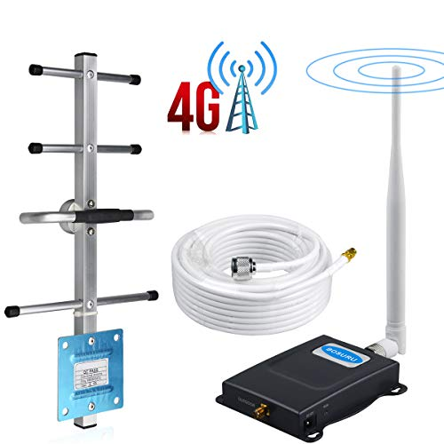 Verizon Cell Phone Signal Booster 4G LTE 700Mhz Band 13 Cell Phone Booster Amplifier Verizon Cell Signal Booster Mobile Signal Booster Repeater BOSURU Boost Voice+Data Whip+Yagi Antena Kits for Home (Best 4g Signal Booster App)