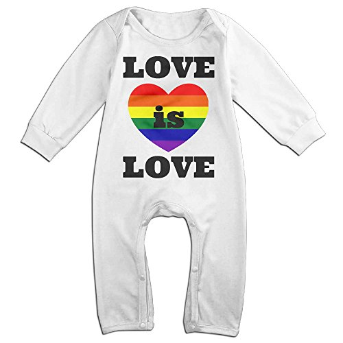 HOHOE NewBorn Boy's & Girl's Love Is Love Gay Marriage Long Sleeve Baby Climbing Clothes White 24 (Austin Powers Ladies)