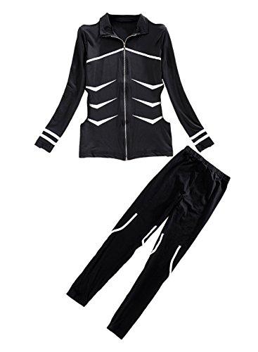 E-Mell Unisex Tokyo Ghoul Cosplay Ken Kaneki Costume Cool Combat Suit (2X-Large, Black)