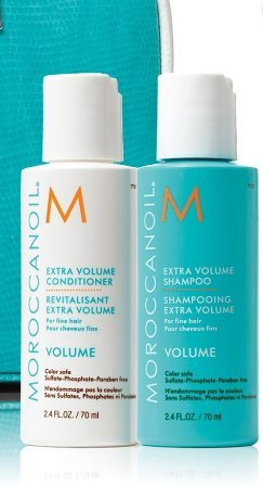 Moroccanoil TRAVEL SET - Extra Volume Shampoo & Conditioner 2.4 oz each (Moroccan Oil Kits For Hair)