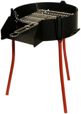 La Ideal español Barbacoa con Rectangular, Barbacoa Grill, Negro, 70 cm