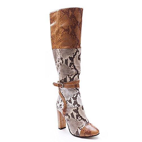 mano de serpiente mezcla piel 43 mujeres Patrón botas bomba de 44 de SPELL invierno colores las de tPwxq