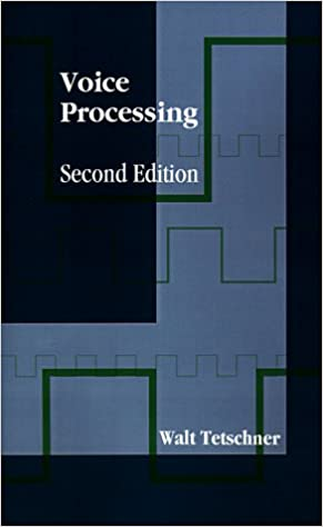 Voice Processing (Artech House Telecommunications Library