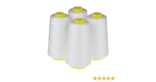PQZATX 4 conos (3000 yardas cada uno) Hilos de coser de poliéster ...
