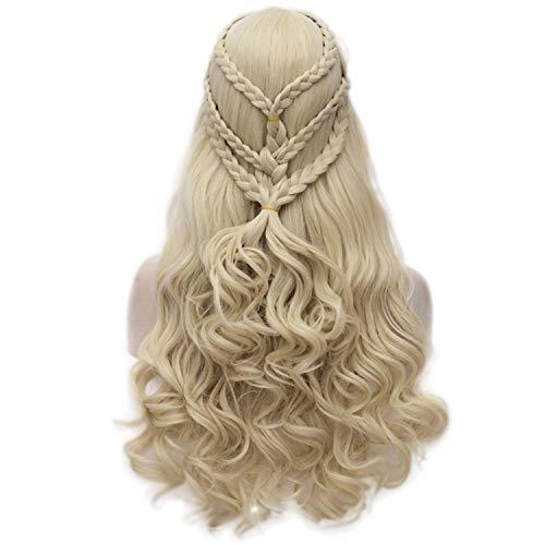Daenerys Targaryen Cosplay Wig for Game of Thrones Khaleesi Halloween Costumes Hair Wig (Blonde) -