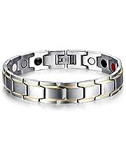 التيتانيوم الصلب سوار الصحة نمط فريد المغناطيسي للرجال اليد الدائري شخصية معصمه الفضة