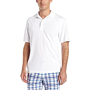PGA TOUR Men's Airflux Polo Cleaning Shirt - white front