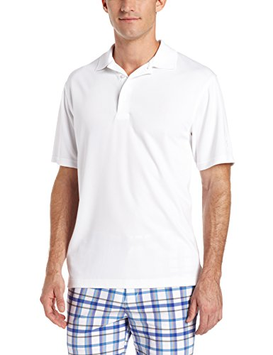 - PGA TOUR Men's Short Sleeve Airflux Solid Polo Shirt, Bright White, XXL