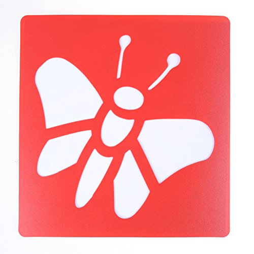 6 Pieces Washable Plastic Children's Drawing Template Board Set Toys Kids Painting Stencils Insects Color Random By DINGJIN by DINGJIN (Image #7)