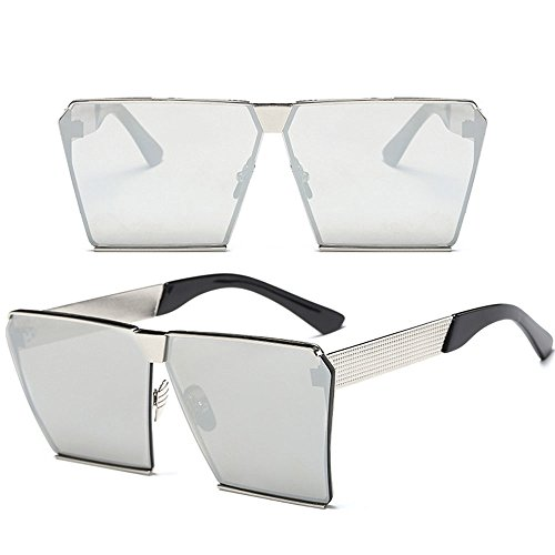 TobeYours Oversized Square Sunglasses Composite Frame Flat Top - Top Sunglasses 2019