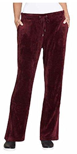 Womens Velour Lounge Pant - Gloria Vanderbilt Ladies' Velour Lounge Pant For Women Merlot XL