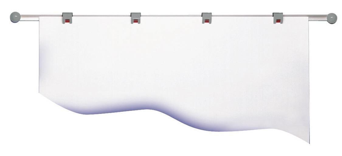 Plan de Soporte de Plan carril de pared con 4 Rollo Clips, Color: gris 9f1f1b