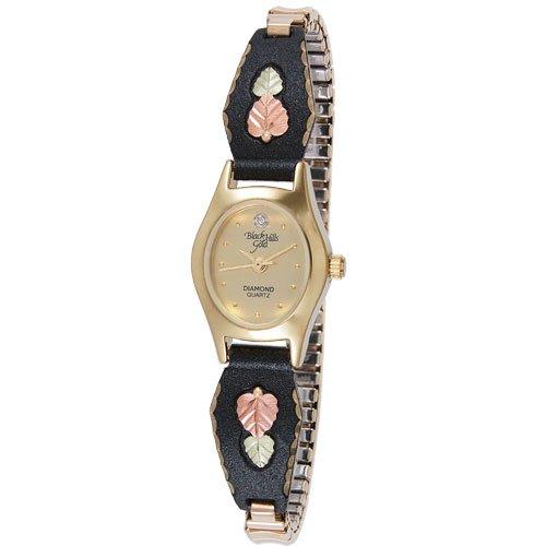 Coleman Women's Black Hills Gold-Leaf Watch ()