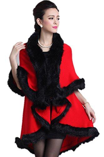 Charmly - Abrigo - para mujer Rose Rojo