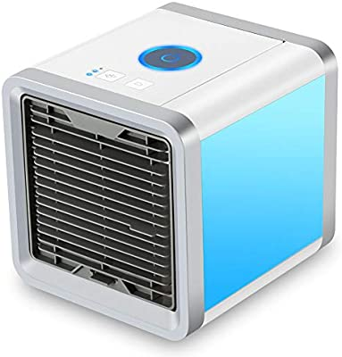 Air Cooler, Arctic Air, Personal Space Cooler, 3 in 1 Portable Mini Air Cooler, Humidifier & Purifier with 3 Speeds and 7 Colors LED Lights for