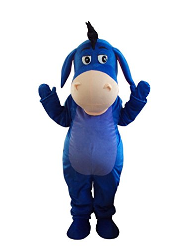 Donkey Eeyore Winnie The Pooh Friend Adult Mascot Costume Fancy Dress (Winnie The Pooh Outfit For Adults)