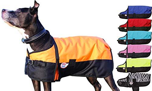 Derby Originals 600D Medium Weight Waterproof Breathable Insulated Dog Coat, Large, Orange