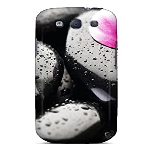 Tpu Case Cover Compatible For Galaxy S3/ Hot Case/ Blackpetals