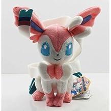 Pokemon Sitting Sylveon soft Plush Stuffed Animals Doll Kids Toys 21 cm
