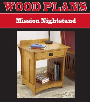 MORE THAN A NIGHTSTAND WOODWORKING PAPER PLAN PW10042