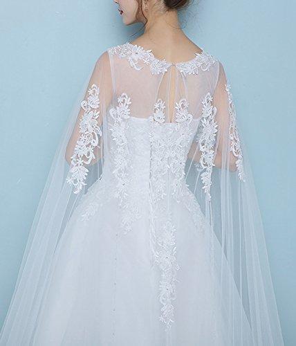 Aurora Femmes Mariée Hors Épaule Robe De Mariée En Dentelle Longueur De Plancher Blanc Robe De Mariée
