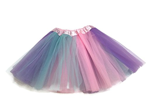 (Rush Dance Colorful Ballerina Girls Dress-Up Princess Costume Recital Tutu (Kids 3-8 Years, Pastel Colors)