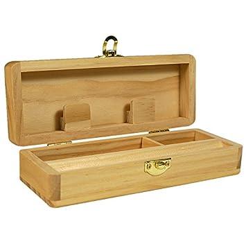 Rolling Box Pequeña - Caja de Madera para Liar - Caja Marihuana - Caja Fumador: Amazon.es: Jardín