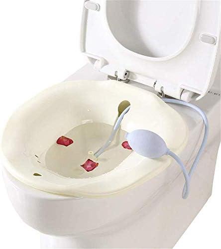 BFCDF Bad Hüftbad Badewanne Spülbad Fässerung Medizinisch Sitzbad Für Schwangere Hämorrhoiden Patienten Auf Der Toilette Hüftbadewanne Flusher,White
