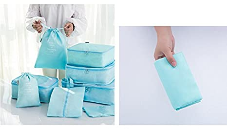 Amazon.com   8 pcs Luggage Packing Organizers Packing Cubes Set for Travel   Packing Organizers