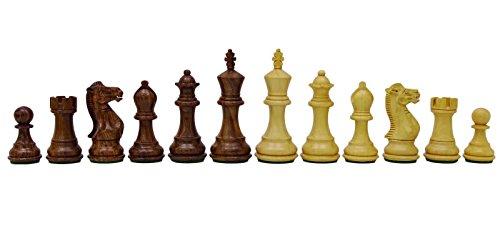 Chessmate mm regalo de oro rosa de madera Staunton pesada de ajedrez mano hecha a mano 32 piezas de ajedrez del juego...
