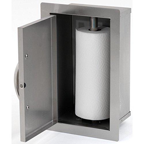 Cal Flame BBQ07910 Door Paper Towel Storage, Stainless Steel